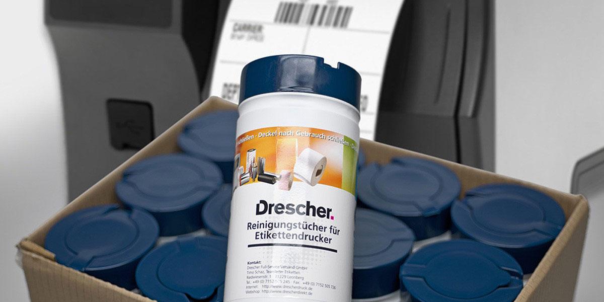 Reinigungstücher für Etikettendrucker